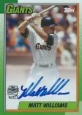 2013 Archives Matt Williams Autograph