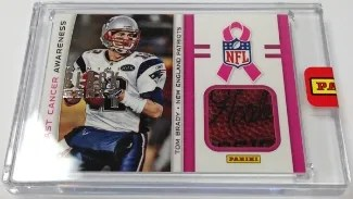 2013 Panini Black Box Breast Cancer Awareness Tom Brady