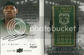 2012/13 All-Time Greats LeBron James Banner Season Book Auto