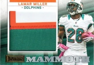 2012 Panini Playbook Mammoth Materials #19 Lamar Miller #/49