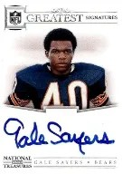 2012 Panini National Treasures Gale Sayers Autograph