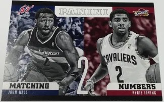 2012/13 Panini Matching Numbers John Wall - Kyrie Irving