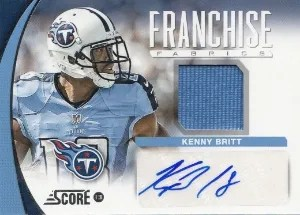 2013 Score Franchise Fabric #21 Kenny Britt Auto