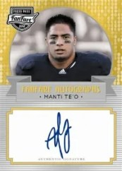 2013 Press Pass FanFare Manti Te'o Autograph
