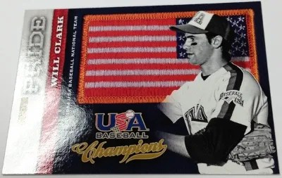 2013 Panini USA Champions Will Clark Flag