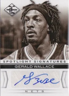 12/13 Panini Limited Spotlight Signatures #26 Gerald Wallace #/99