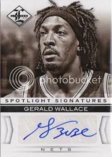 12/13 Panini Limited Spotlight Signatures #26 Gerald Wallace #/99