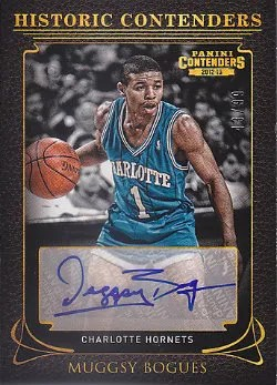 12/13 Panini Contenders Historic AUtograph #24 Muggsy Bogues #/99