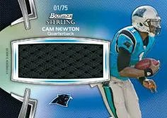 2012 Bowman Sterling Cam Newton Jersey