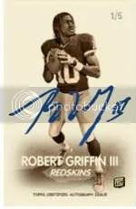 2012 Topps Magic Robert Griffin III 1948 Auto