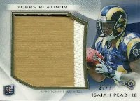 2012 Topps Platinum Isaiah Pead Patch