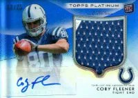 2012 Topps Platinum Coby Fleener Patch Auto