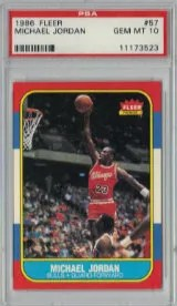 1986-87 Fleer Michael Jordan RC PSA 10