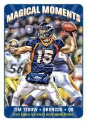 2012 Topps Magic Tim Tebow Magical Moments