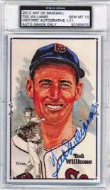 2013 Historic Autographs Ted Williams