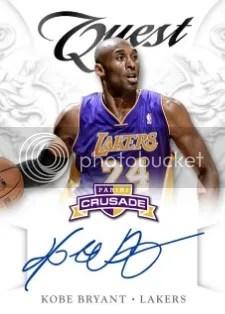 12/13 Panini Crusade Kobe Bryant Quest Autograph