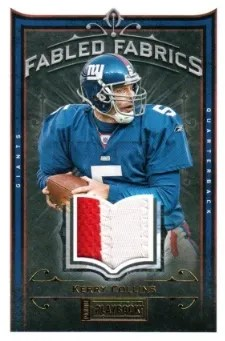 2012 Panini Playbook Fabled Fabrics Prime #59 Kerry Collins #/25