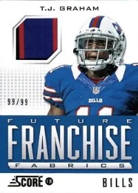 2013 Score Future Franchise Fabric Prime #3 T.J. Graham WR - Buffalo Bills #/99