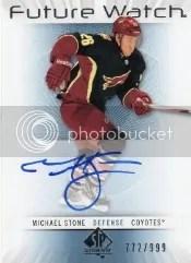 2012-13 Sp Authentic Michael Stone Future Watch