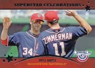 2013 Topps Opening Day Bryce Harper Superstar Celebrations