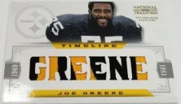 2012 Panini National Treasures Joe Greene Timeline Jersey