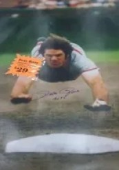 Pete Rose Giant Autograph Poster