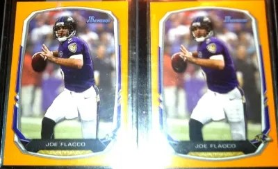 2013 Bowman Joe Flacco orange