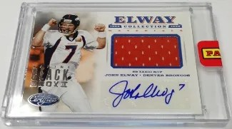 2013 Panini Black Box John Elway Collection Auto