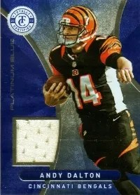 2012 Panini Totally Certified Andy Dalton Blue Materials