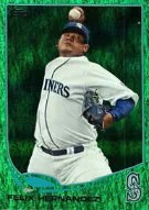 2013 Topps Series 1 Emerald Foil Felix Hernandez Parallel Card