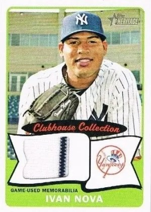 2014 Topps Heritage Ivan Nova Clubhouse Collection Relic