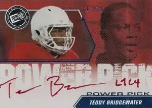 2014 Press Pass Power Picks Teddy Bridgewater Auto