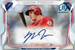 2014 Bowman Chrome Mike Trout Mini