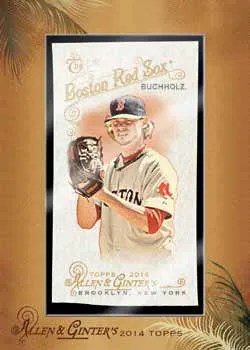 2014 Topps Allen & Ginter Clay Buchholz Cloth Parallel