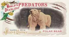 2014 Topps Allen & Ginter World Deadliest Predators