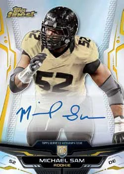 2014 Topps Finest Michael Sam Autograph RC