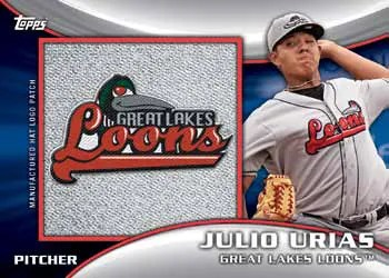 2014 Topps Pro Debut Manufactured Hat Logo Julio Urias