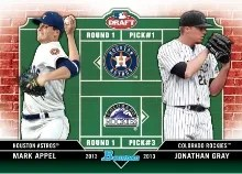 2013 Bowman Draft Dual Draftees