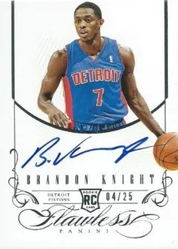 12/13 Panini Flawless Brandon Knight Auto RC #/25