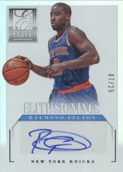 2012-13 Panini Elite Series Signings Raymond Felton Auto