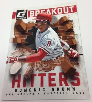 2014 Donruss Breakout Hitters Domonic Brown Insert