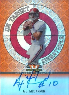 2014 Leaf Metal Draft On Targets AJ McCarron