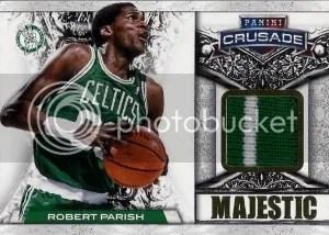 13/14 Panini Crusade Majestic Robert Parrish Prime Jersey Card