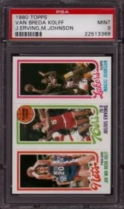 1980 Topps Magic Johnson RC PSA 9