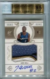 John Wall National Treasures BGS 9.5 Autograph