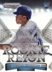 2014 Panini Prizm Baseball Logan Watkins Rookie Reign Insert
