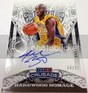 13/14 Panini Crusade Hardwood Homage Kobe Bryant Autograph