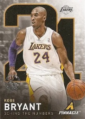 13/14 Pinnacle Behind the Numbers Kobe Bryant