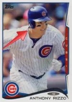 2014 Topps Series 1 Anthony Rizzo Sparkle