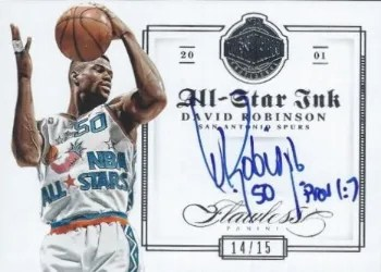 12/13 Panini Flawless All-Star Ink David Robinson
